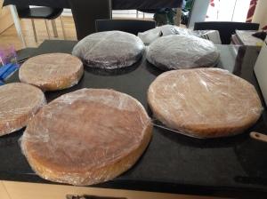 "the baked yummies..12"" lemon sponge, 10"" choco orange, 8"" Vicky sponge"