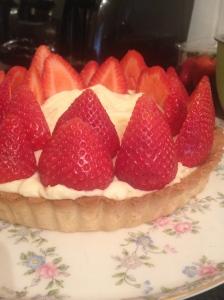 Begin strawberry arrangement
